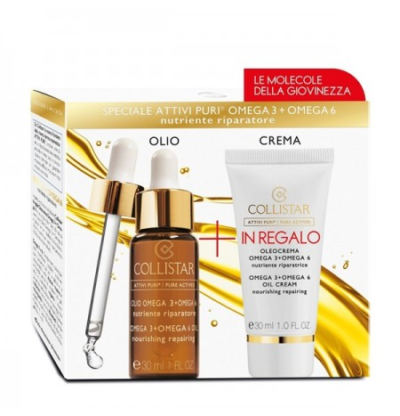 Collistar Kit Attivi Puri Olio Omega 3 + Omega 6 + Oleocrema 30ML