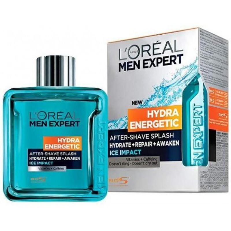 L'Oreal Men Expert Hydra Energetic 100ML Lozione Dopobarba Ice Impact