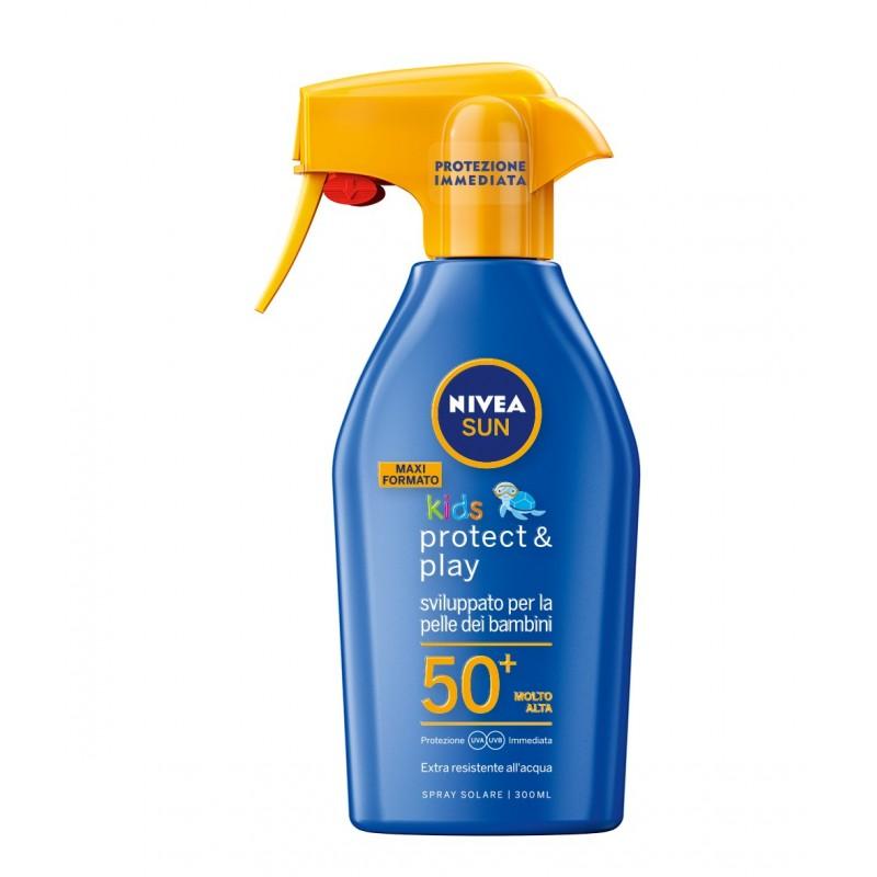 Nivea Maxi Spray Solare Protect & Play FP50+ 300ML