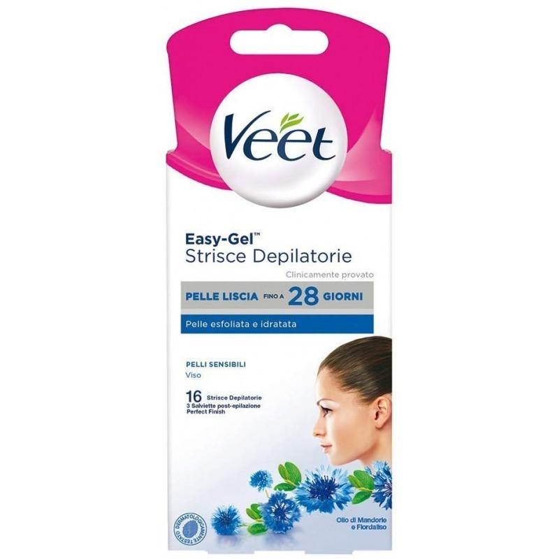 Veet Depilatory Strips Sensitive Skin Face 16 Pcs