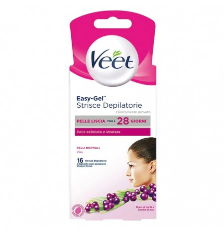 Veet Depilatory Strips Normal Skin Face 16 Pcs