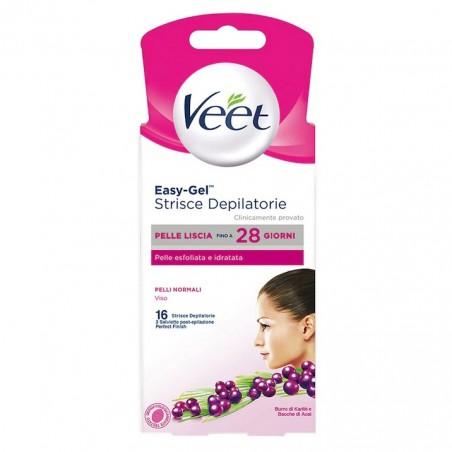 Veet Depilatory Strips Normal Skin Face 16 Pcs