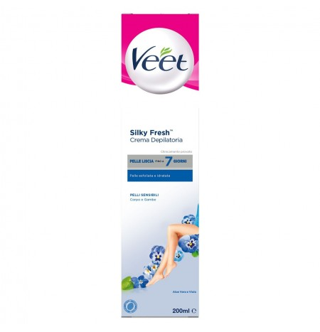 Veet Crema Depilatoria Pelli Sensibili Silk & Fresh Technology 200ML
