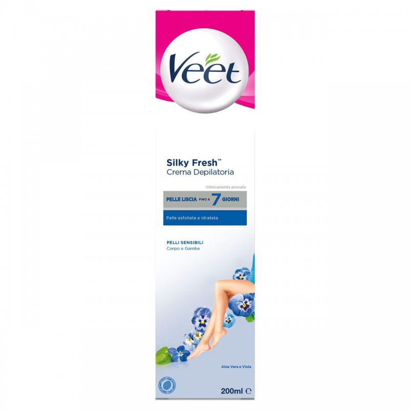 Veet Depilatory Cream for Sensitive Skin Silk & Fresh Technology 200ML