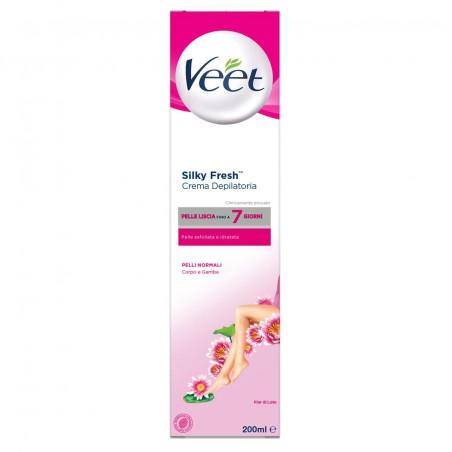 Veet Crema Depilatoria Pelli Normali Silk & Fresh Technology 200ML