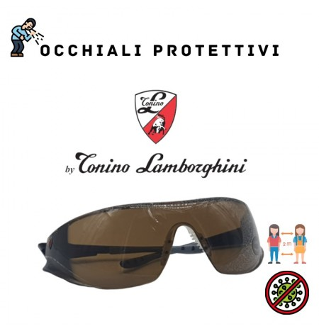 Work Protective Glasses by Tonino Lamborghini UV400 Adjustable Brown