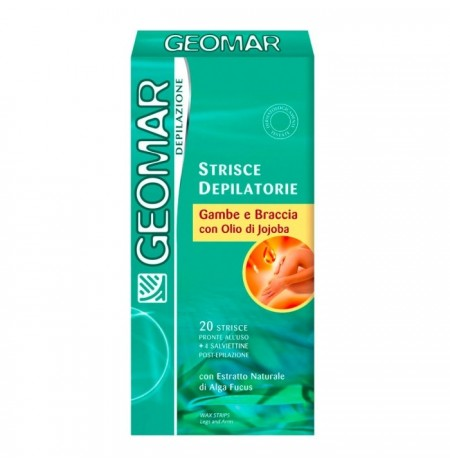 Geomar Legs and Arms Depilatory Strips with Jojoba oil 20 Strips