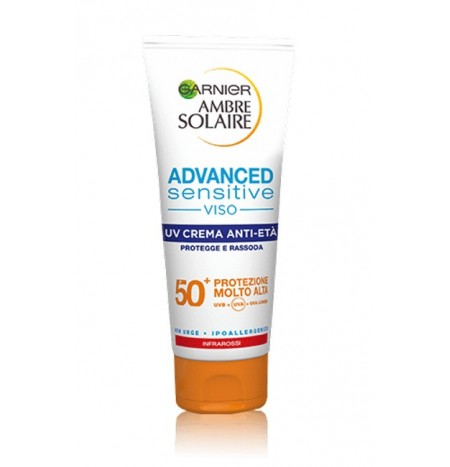 Garnier Ambre Solaire Advanced Sensitive Viso UV Crema Anti-Età 100ML