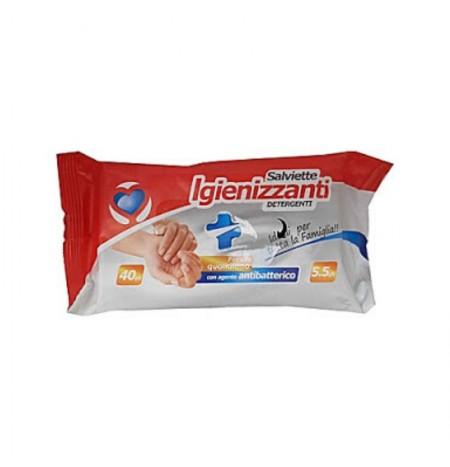Setablu Salviette Igienizzanti Con Agente Antibatterico 40Pz