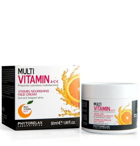 Phytorelax Crema Viso Multi Vitamin A+C+E Nutriente 50ML