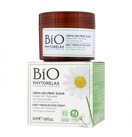 Phytorelax Crema Viso Prime Rughe con Camomilla Bio 50ML