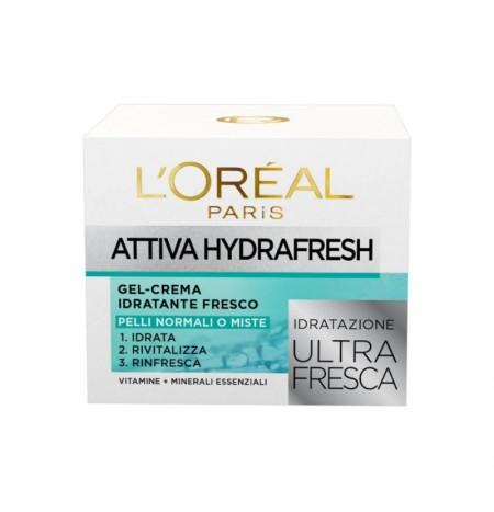 L'Oréal Paris Attiva Hydrafresh Gel-Crema per Pelli Normali o Miste 50ML