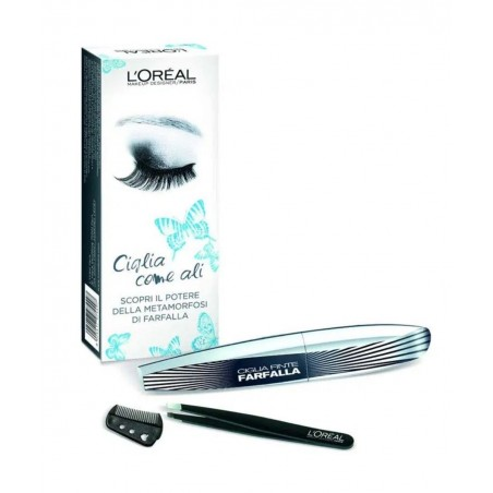 L'Oréal Mascara Butterfly Lashes + Free Tweezers