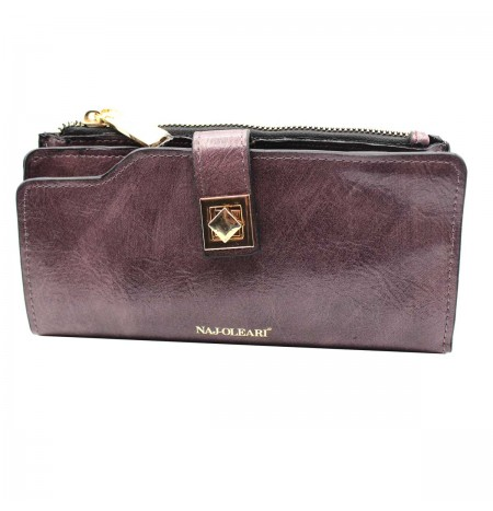 Naj-Oleari Women's wallet in imitation leather Naj Oleari Adele line 2468 mauve