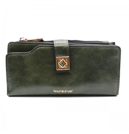 Naj-Oleari Women's wallet in leatherette Adele line 2468 Military