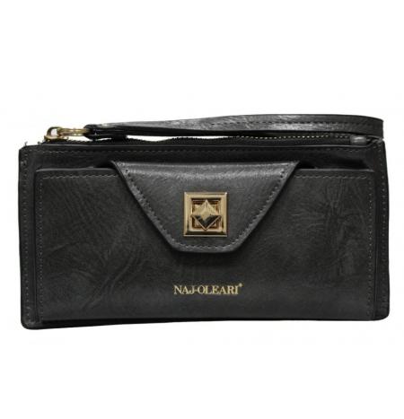 Naj-Oleari Women's wallet in leatherette Adele line 2466 Gray