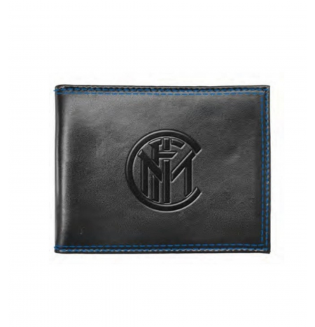 Enzo Castellano Men's Leather Wallet FC INTER