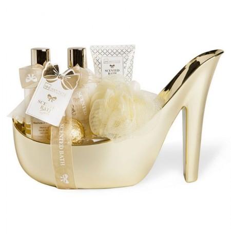 IDC Institute Bathroom Set Shoe Gold