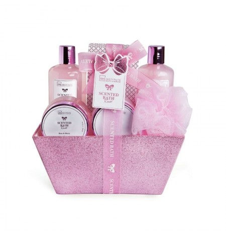 IDC Institute Pink Basket Bathroom Set