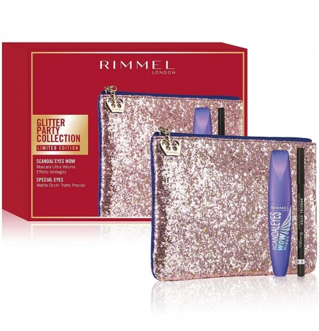Rimmel London Clutch Bag + Scandaleyes Wow Mascara + Pencil