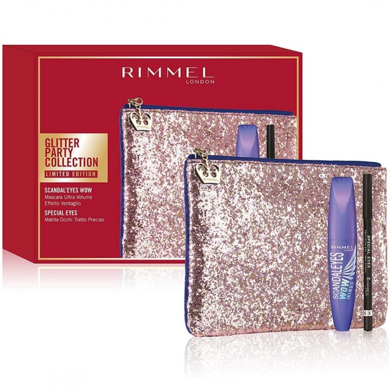 Rimmel London Clutch Bag + Scandaleyes Wow Mascara + Pencil