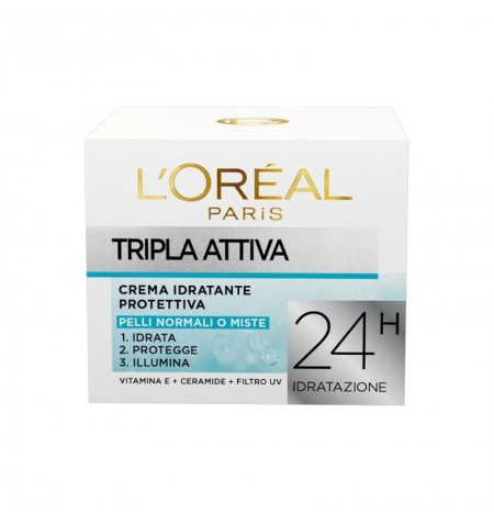 L'Oréal Paris Triple Active Moisturizing Face Cream for Normal or Combination Skin 50ML