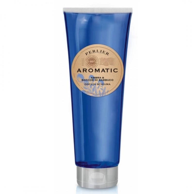 Perlier Aromatic Amber and Elderberries Shower Gel