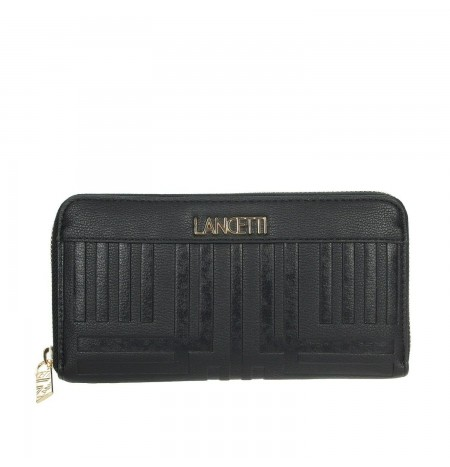 Lancetti Black Leather Wallet