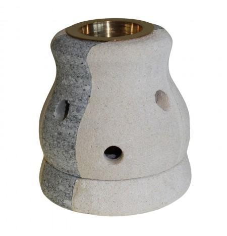 Burn Essences in Sandstone Lantern - Square
